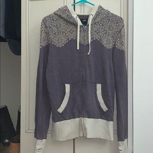 Obey zip up mandala style hoodie